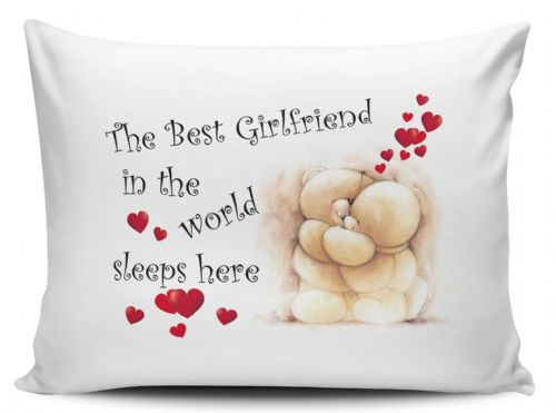 The Best Girlfriend In The World Sleeps Here Pillow Case